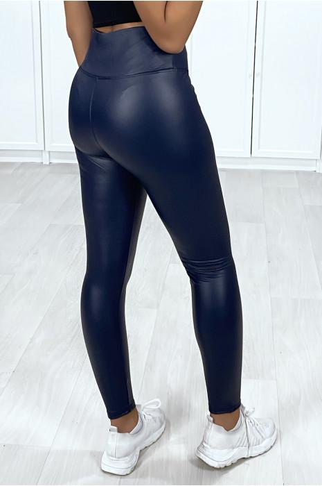 Zeer modieuze navy faux legging