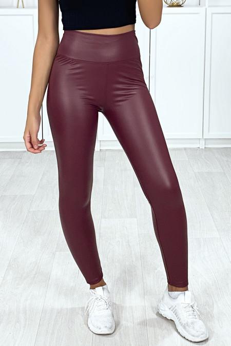 Zeer modieuze bordeauxrode faux legging