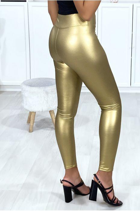 Legging en simili doré très fashion