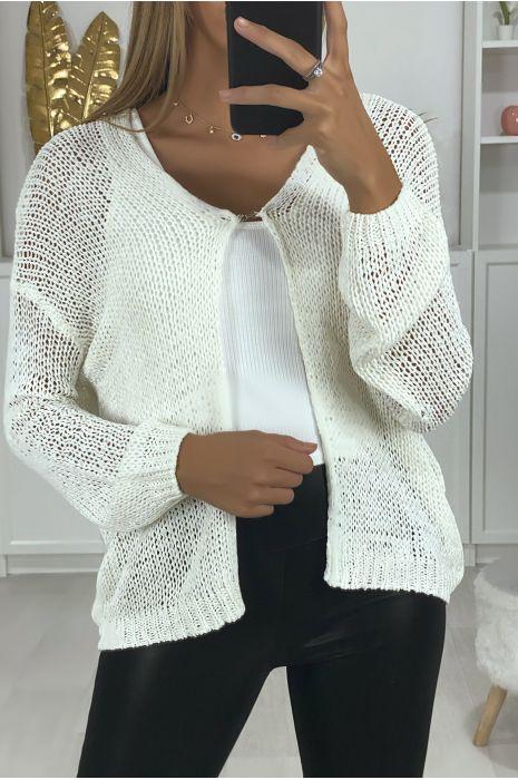 Wit vest in een zeer zachte stof