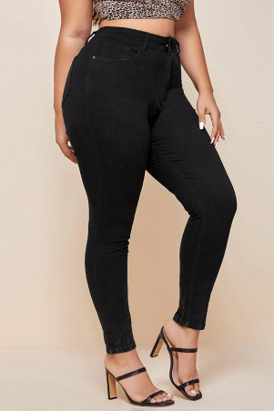 Jeans noir grande taille très extensible
