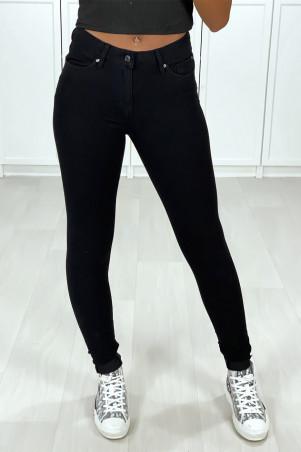 Jeans slim noir très extensible avec 5 poches