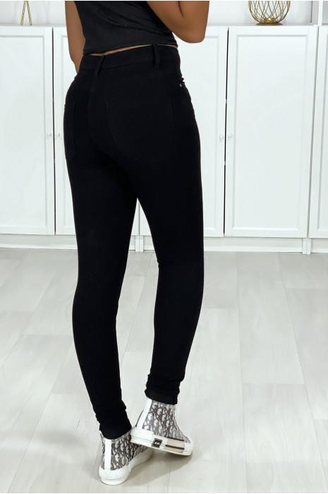 Zeer rekbare zwarte slim jeans met 5 zakken
