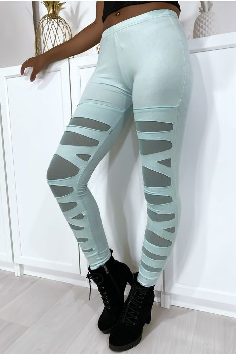 Royal leggings with pretty pattern cut and lined in mesh