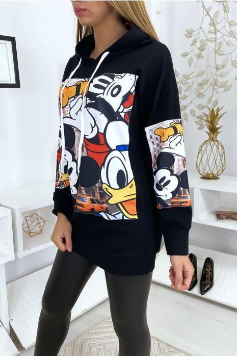 Robe pull noir Mickey et Disney
