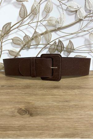 Grosse ceinture marron avec joli motif
