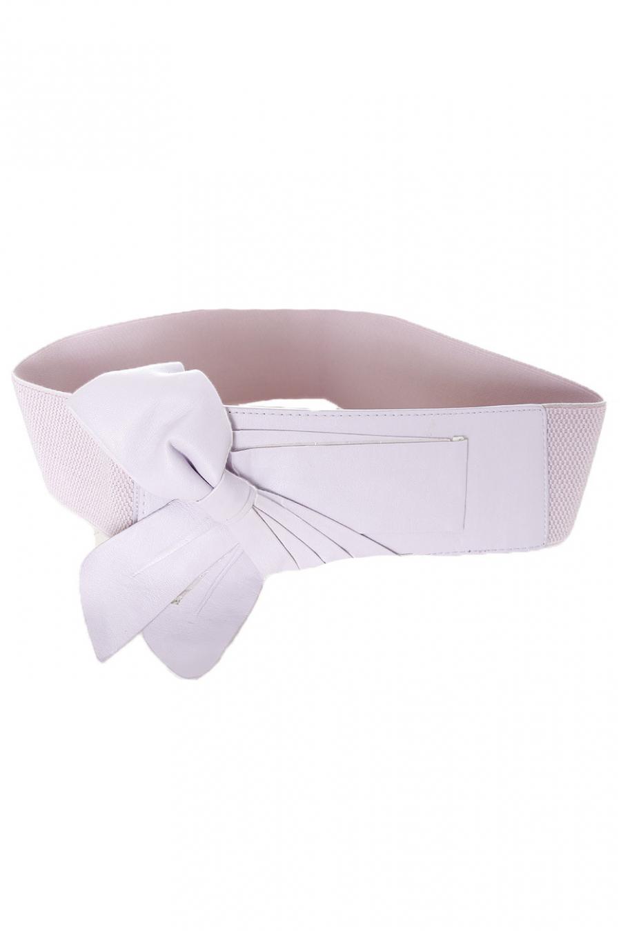 Paarse elastische tailleband met strik SG-0475