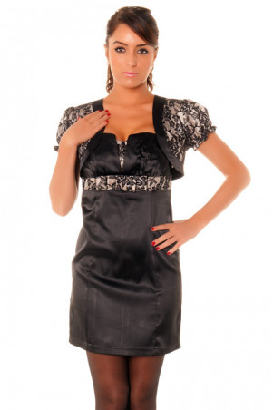 Nice little satin bolero with lace. Bolero at shock price 076