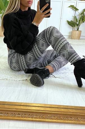 Legging à motif noir et blanc