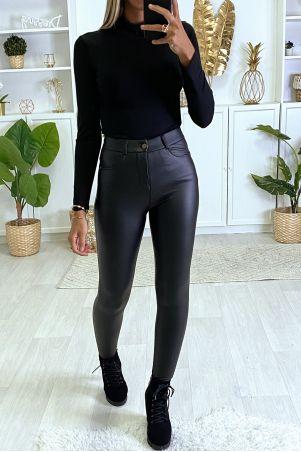 Zwarte broek van imitatiefleece met 4 zakken